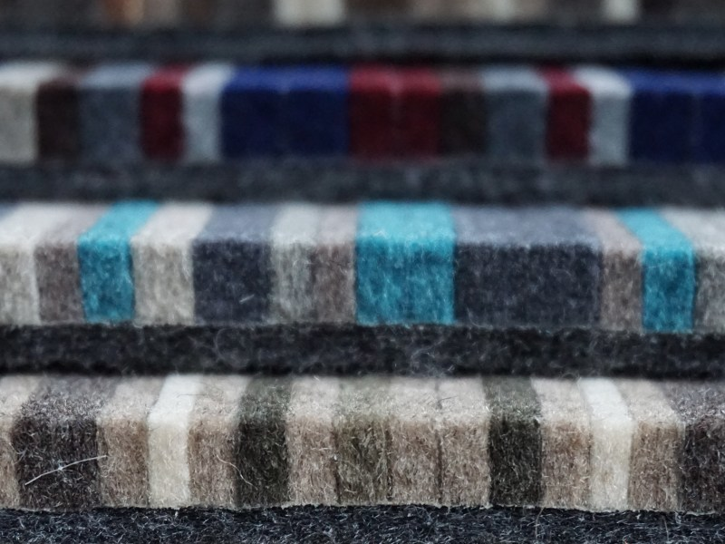 Merino wool upholstery fabric FELT by Buxkin