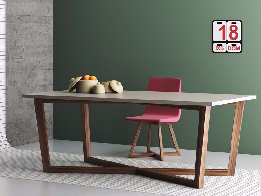 Rectangular solid wood contract table FENG SHUI | Rectangular table - Imperial Line