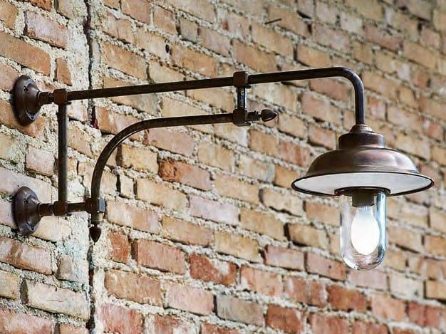 Direct-indirect light brass wall lamp FIATI   Wall lamp - Aldo Bernardi