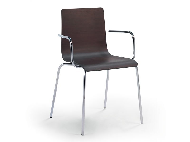 Stackable chair with armrests FIBRA | Chair with armrests - Debi