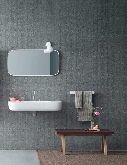Carta da parati impermeabile per bagno fibra rexa design - Carta da parati per bagno ...