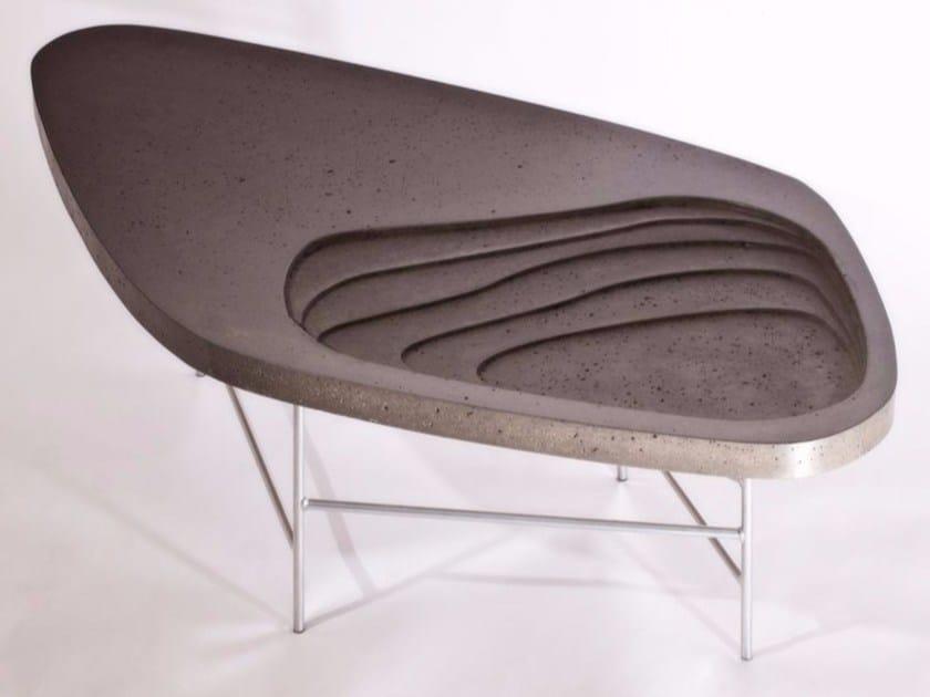 Tavolino in cemento FIDJI 700 - MALHERBE EDITION