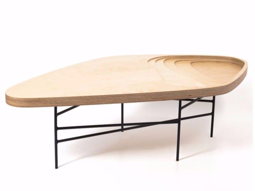 Wooden coffee table FIDJI | Coffee table - MALHERBE EDITION