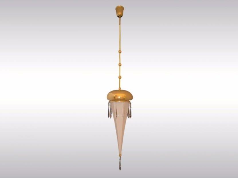 Brass pendant lamp FIFTH-AVENUE - Woka Lamps Vienna