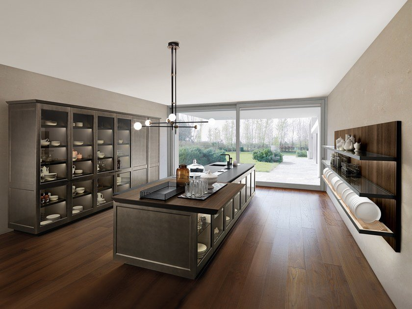 Lacquered kitchen with island FILÒ - Euromobil