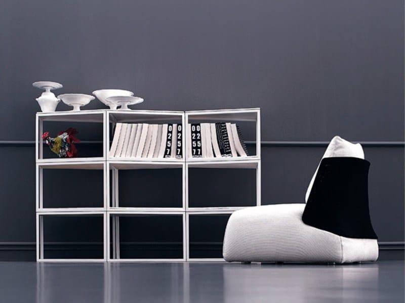 Open lacquered modular bookcase FILÙ | Bookcase - arflex
