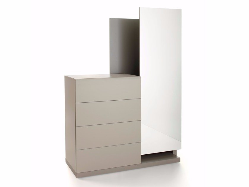 Free standing lacquered wooden chest of drawers FILDRESS - Caccaro