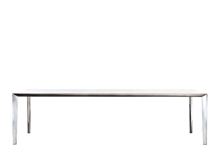 Extending rectangular table FILIGREE | Rectangular table by MOLTENI & C.