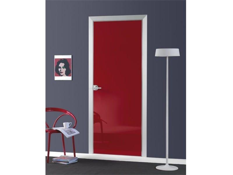 Flush-fitting door FILO A FILO - POLISHED GLASS - PORTEK by LEGNOFORM