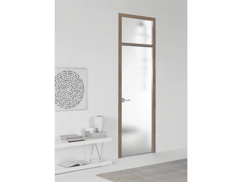 Hinged flush-fitting door FILO A FILO - SATIN GLASS - PORTEK by LEGNOFORM