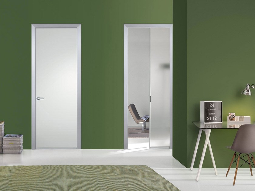 Flush-fitting satin glass door FILO A FILO - SATIN GLASS - PORTEK by LEGNOFORM