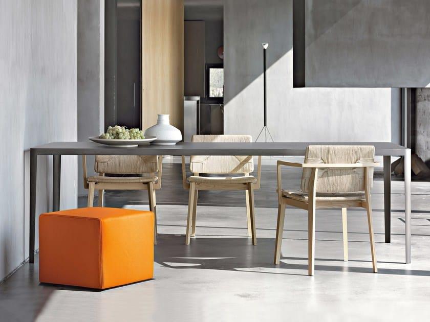 Rectangular cement table FILO - Lema