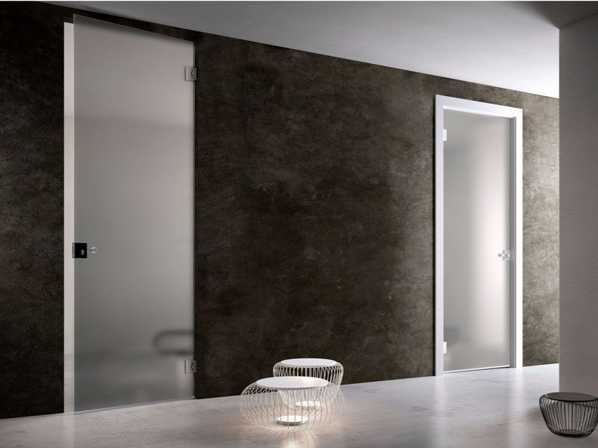 Hinged glass door FILOMURO | Glass door - GAROFOLI