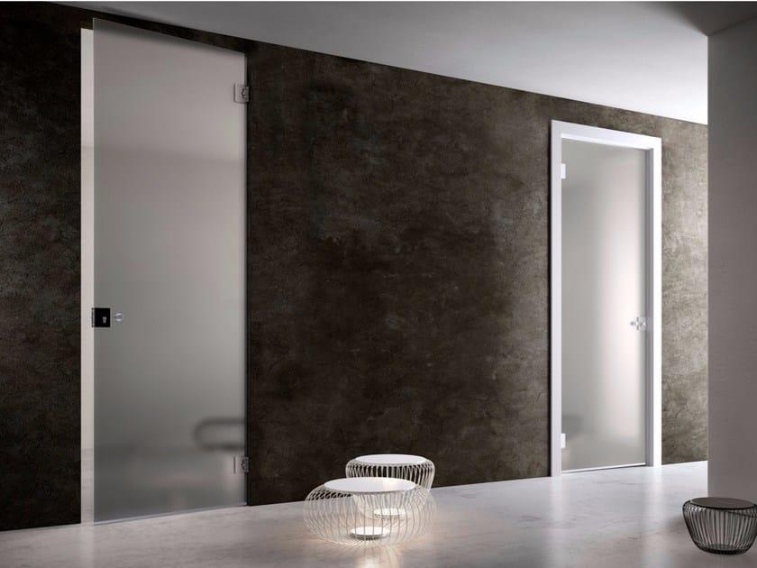 Hinged glass door FILOMURO | Glass door by GAROFOLI