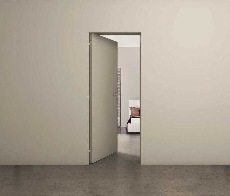 Porta a battente a filo muro filomuro zero porta a filo - Porta coperchi da muro ...