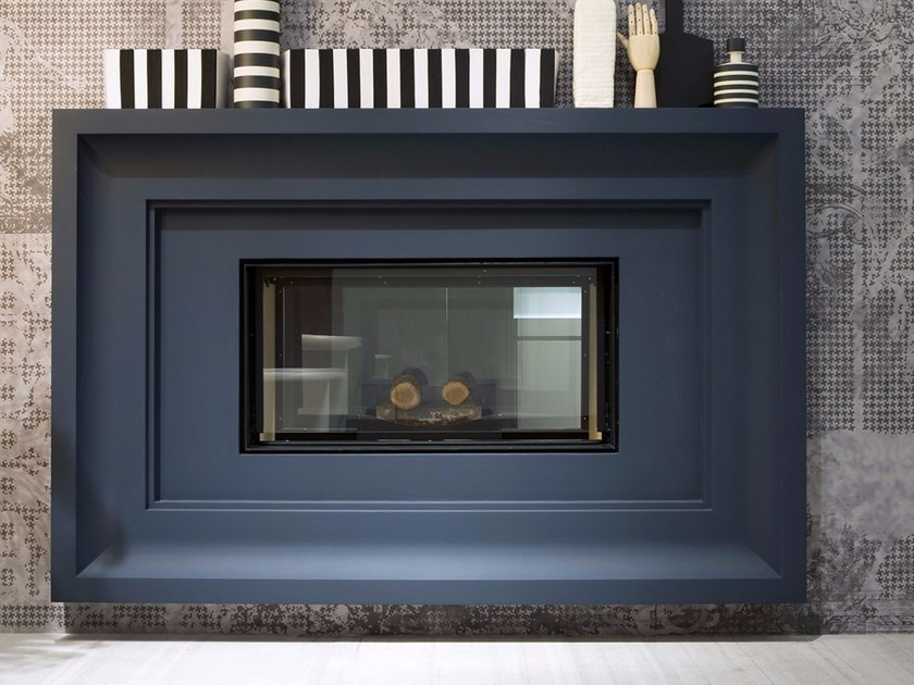 Wood-burning steel Boiler fireplace FILOSKEMA - Antonio Lupi Design®