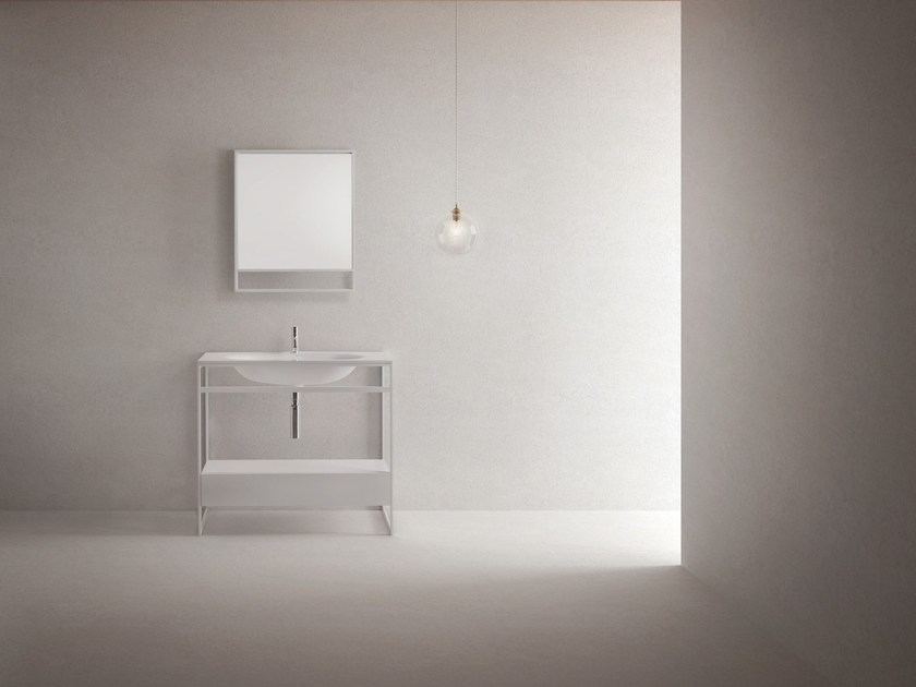 Single vanity unit FINE by Sanwa Company