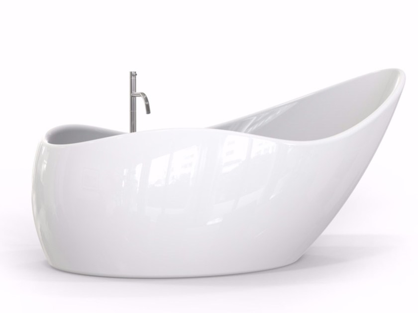 Contemporary style freestanding Adamantx® bathtub FINGER FOOD - ZAD ITALY