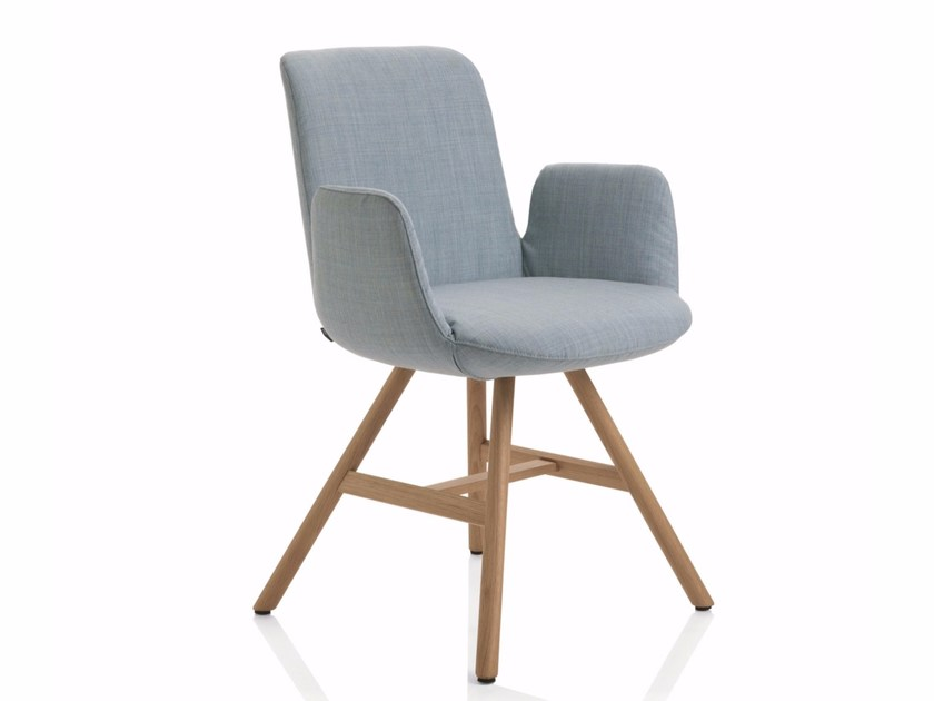 Fabric chair with armrests FIOR DI LOTO | Chair with armrests by Emmegi