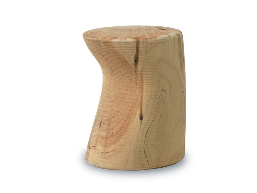 Cedarwood stool FIORD by Riva 1920