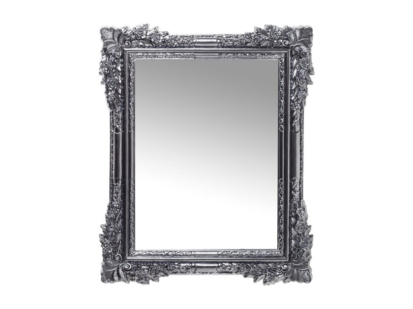 Rectangular wall-mounted framed mirror FIORE CHROME - KARE-DESIGN