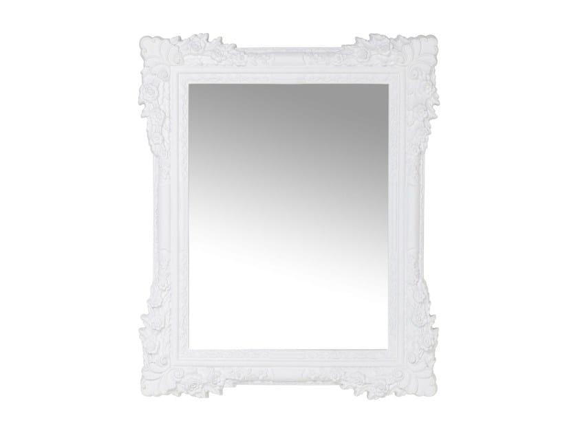 Rectangular wall-mounted framed mirror FIORE WHITE - KARE-DESIGN