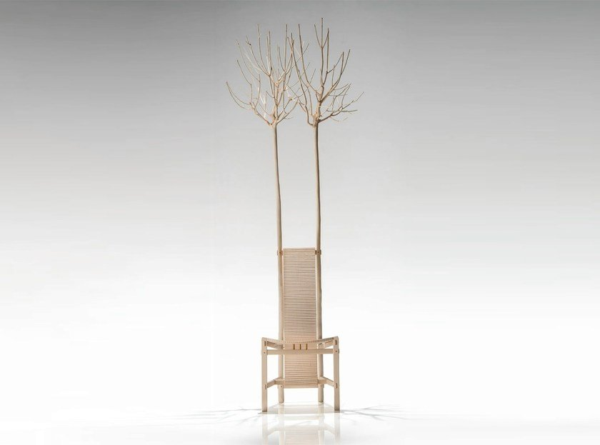 High-back chair FIORITA - HABITO by Giuseppe Rivadossi