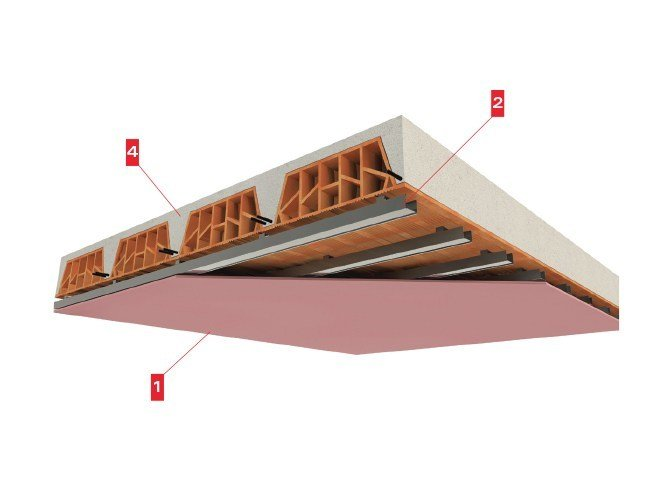 Fireproof ceiling tiles FIREGYPS SP 15/27 - LINK industries