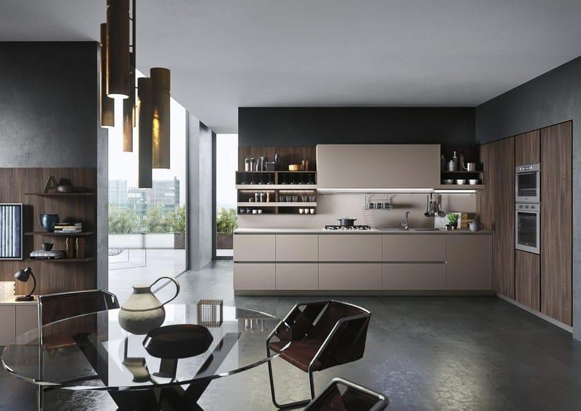 Cucina componibile in stile moderno con isola con penisola first ...