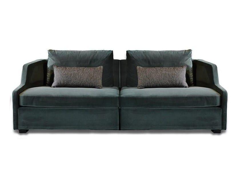 Upholstered modular velvet sofa FIRST MODULARE - Gallotti&Radice