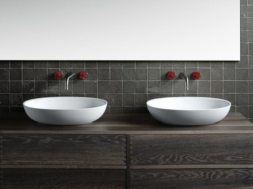 Design countertop oval Cristalplant® washbasin FISHER ISLAND | Washbasin by Boffi