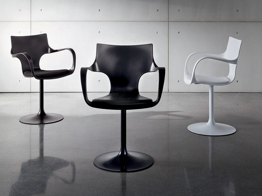 Swivel polypropylene chair FLÛTE GIREVOLE - SOVET ITALIA