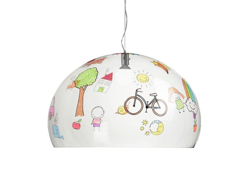 PMMA pendant lamp FL/Y KIDS by Kartell