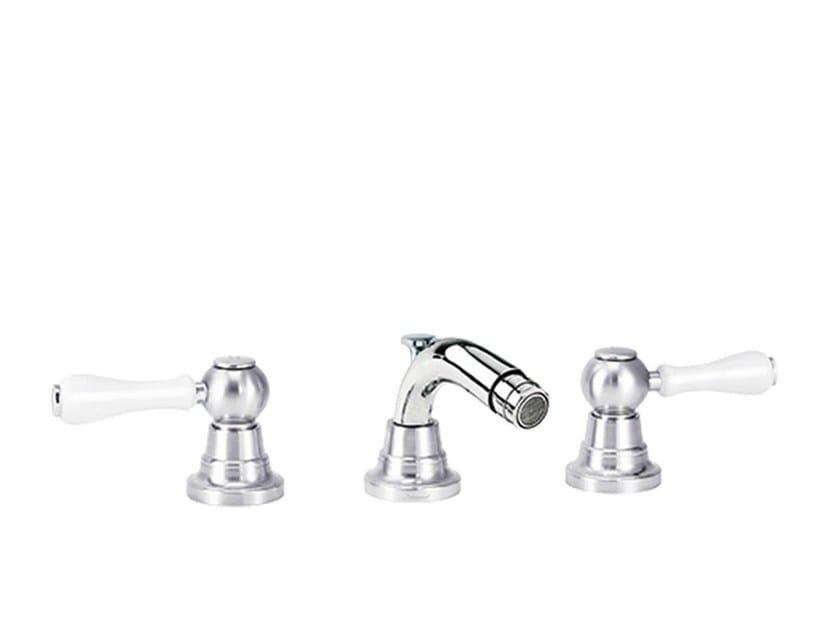 3 hole countertop bidet mixer with swivel spout FLAMANT BUTLER | 3 hole bidet mixer - rvb