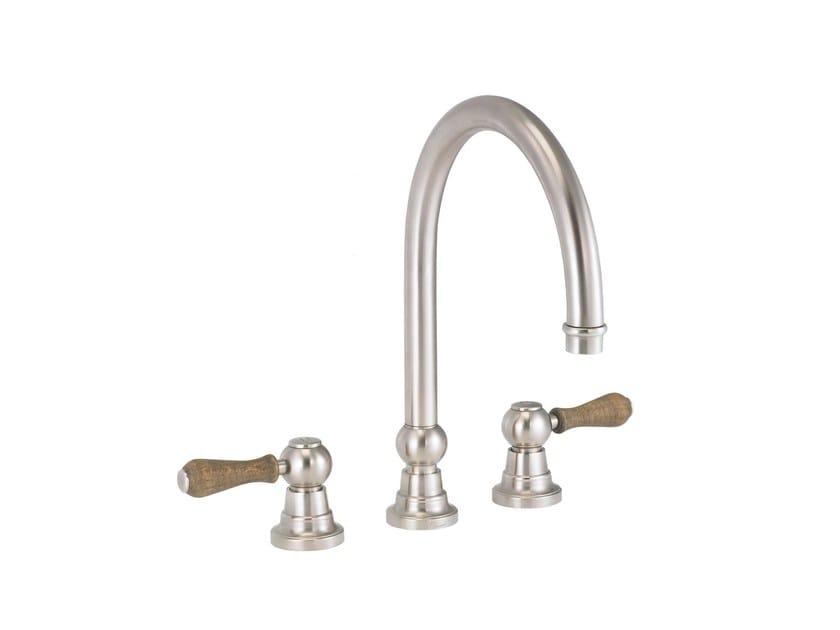 3 hole countertop kitchen mixer tap FLAMANT BUTLER | 3 hole kitchen mixer tap - rvb