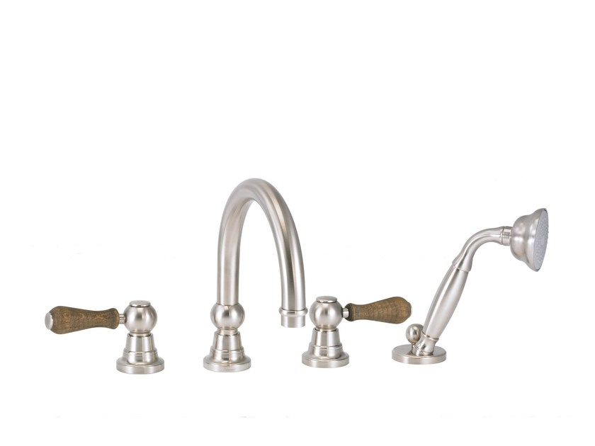 4 hole bathtub set with hand shower FLAMANT BUTLER | 4 hole bathtub tap by rvb