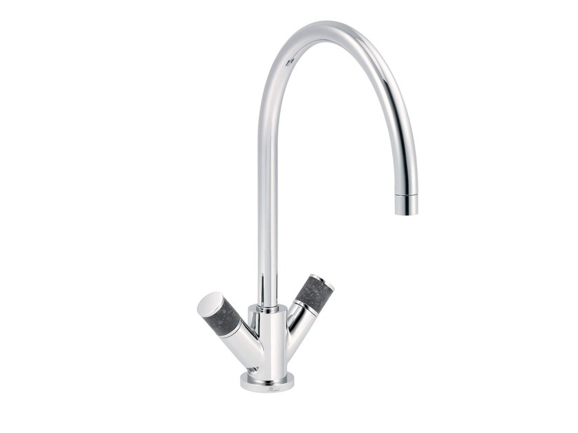 Contemporary style countertop 1 hole kitchen mixer tap FLAMANT DOCKS | 1 hole kitchen mixer tap - rvb