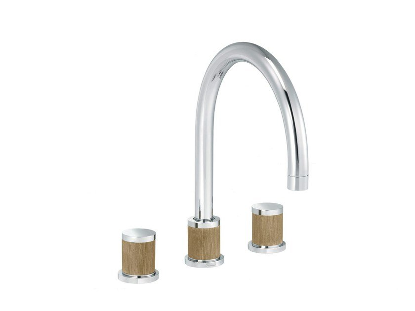 3 hole countertop kitchen mixer tap FLAMANT DOCKS | 3 hole kitchen mixer tap by rvb