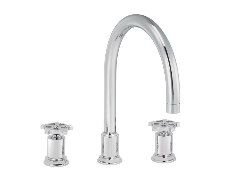 3 hole countertop kitchen mixer tap FLAMANT FACTORY | 3 hole kitchen mixer tap by rvb