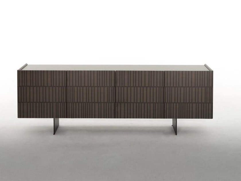 Wooden sideboard with doors FLAMINGO by Tonin Casa