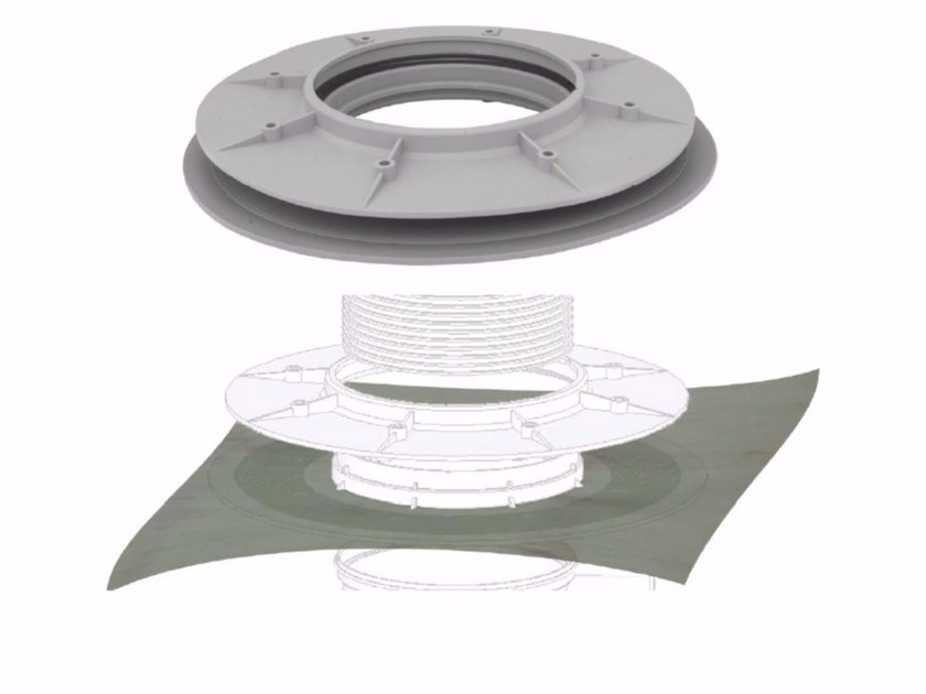 Polypropylene Pipe fixing system and collar FLANGE FOR SYPHONED GULLY by Dakota