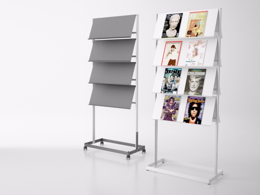 Steel display unit for brochures FLAP | Display unit - Systemtronic
