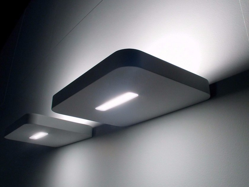 Halogen metal wall lamp FLAT by DAVIDE GROPPI