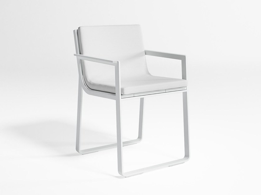 Thermo lacquered aluminium garden chair with armrests FLAT | Chair with armrests - GANDIA BLASCO