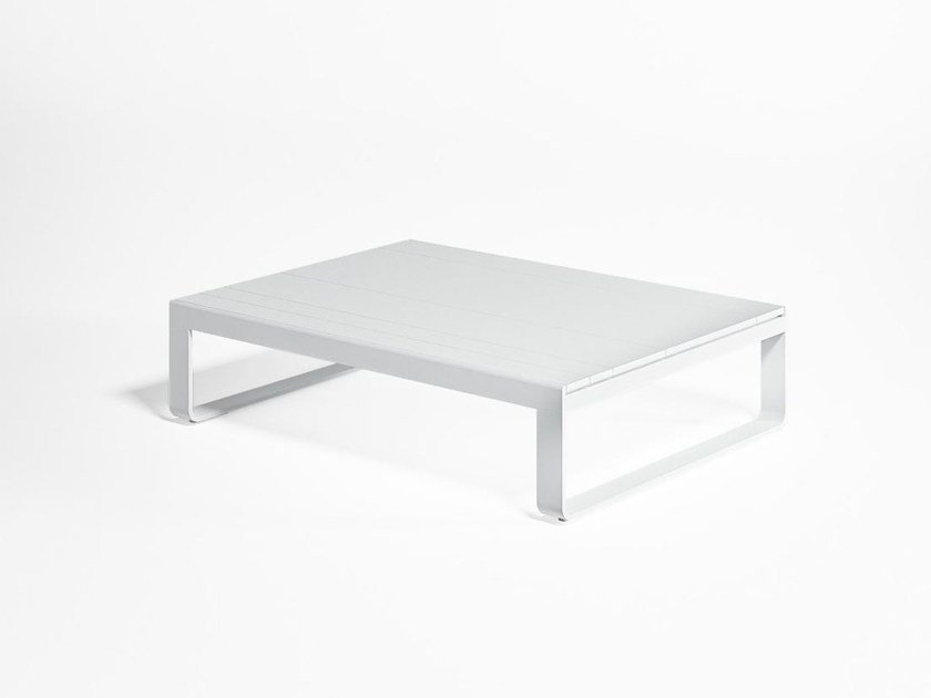 Thermo lacquered aluminium garden side table FLAT | Garden side table - GANDIA BLASCO