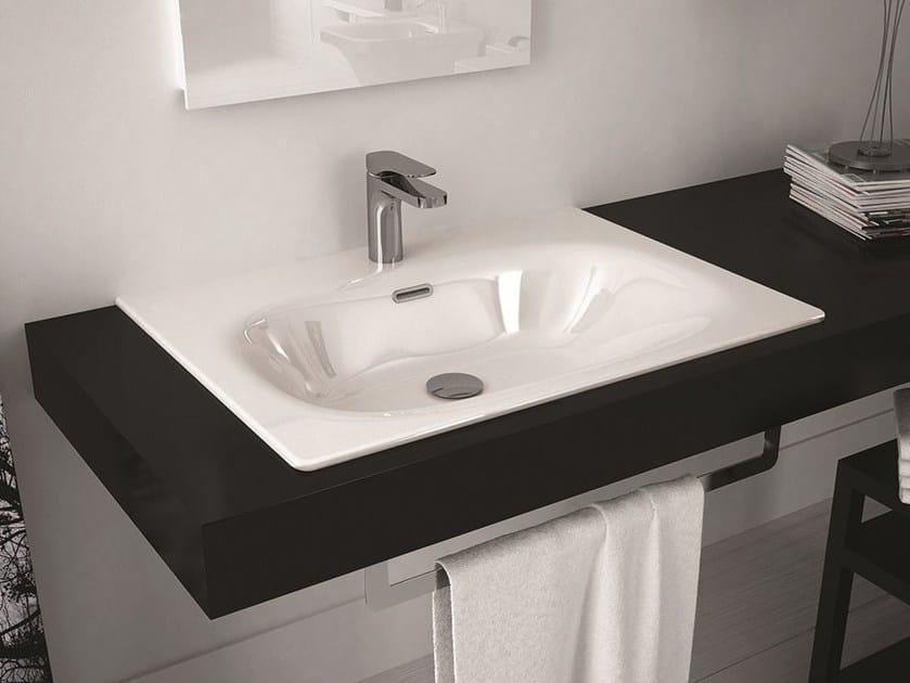 Rectangular ceramic washbasin FLAT | Inset washbasin by Hidra Ceramica