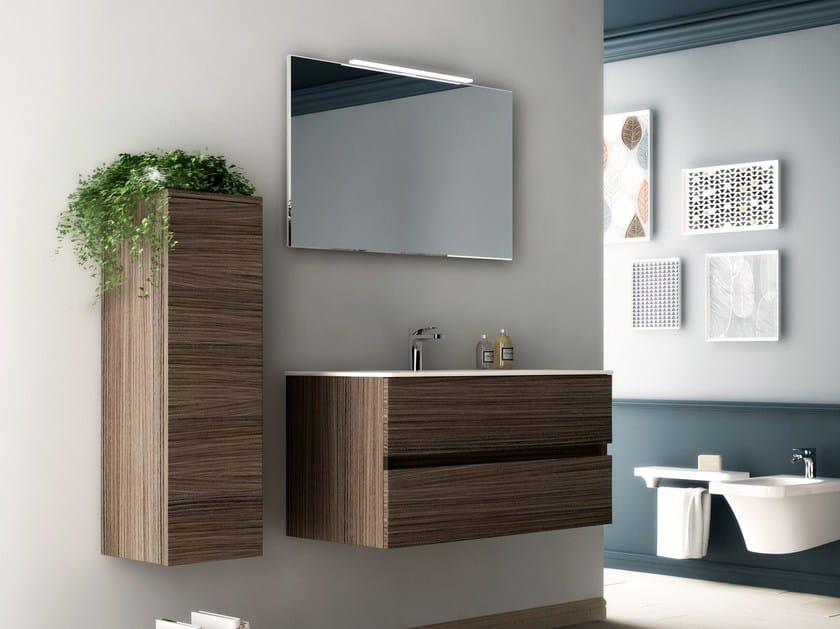 Wooden bathroom furniture set FLAT | Bathroom furniture set - Hidra Ceramica