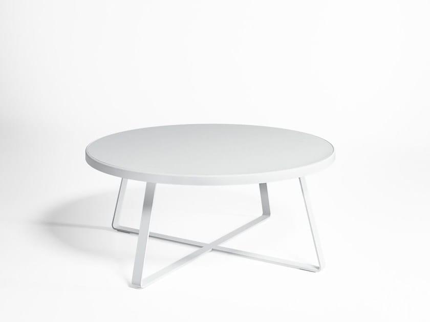 Round garden table FLAT   Round garden table by GANDIA BLASCO