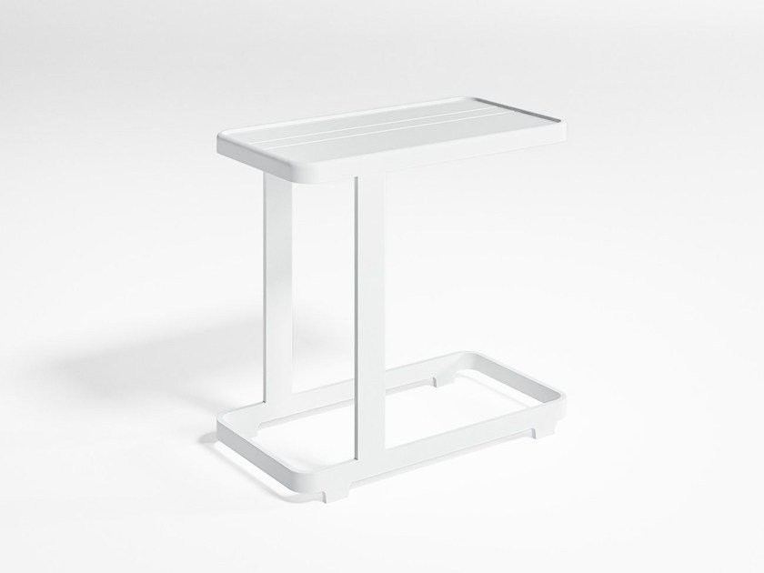 Rectangular thermo lacquered aluminium garden side table FLAT | Side table by GANDIA BLASCO