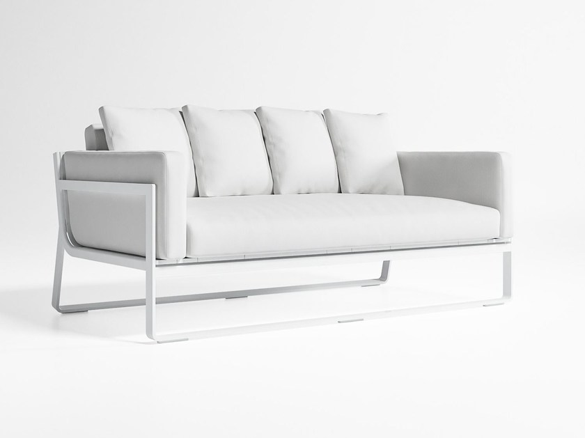 2 seater thermo lacquered aluminium garden sofa FLAT | Sofa - GANDIA BLASCO